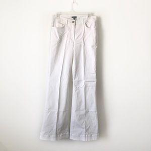 White escada flare wide leg jeans euc UK sz 40